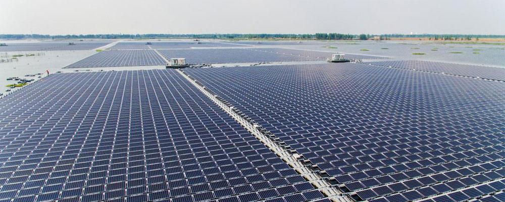 une super production chinoise la centrale solaire photovolta que flottante girerd enr. Black Bedroom Furniture Sets. Home Design Ideas