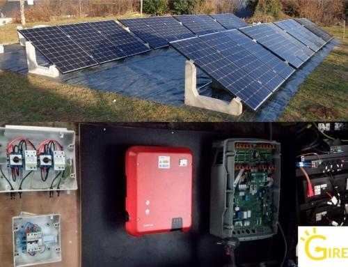 Installation solaire photovoltaïque avec batteries pour une autonomie de 70% by GIRERD EnR